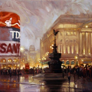 piccadilly circus - framed