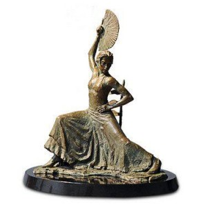 Flamenco Dancer with Fan  - Bronze