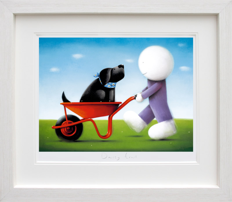Daisy Trail - White Framed by Doug Hyde