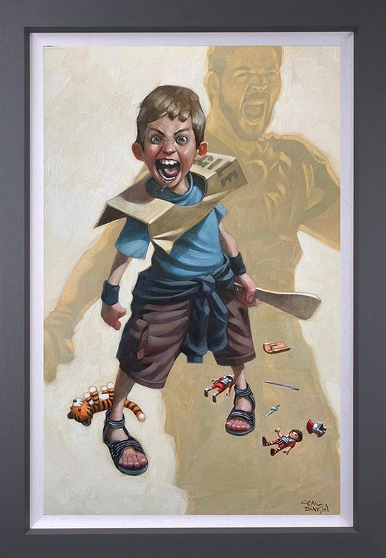 Are You Not Entertained? - Original - Grey - Framed by Craig Davison