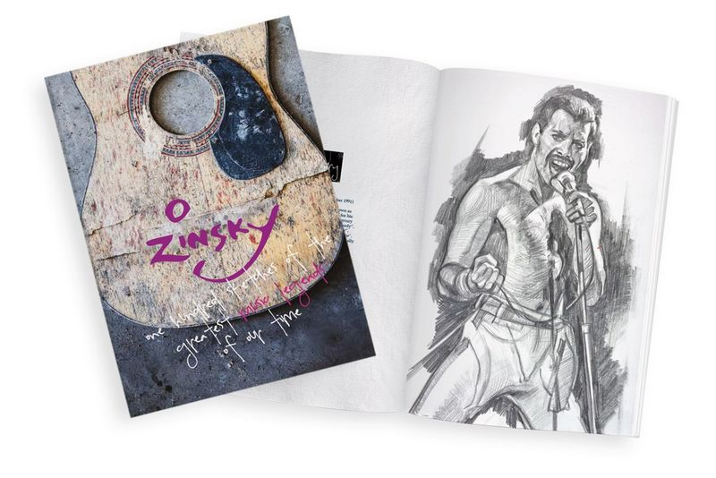 100 Sketches of the Greatest Music Legends of Our Time