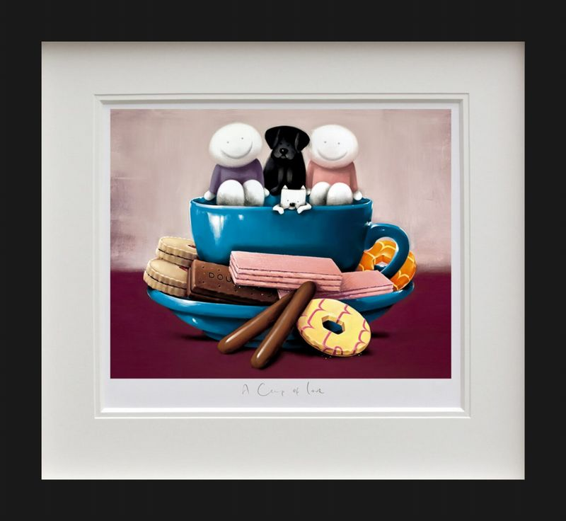 A Cup Of Love - Black - Framed by Doug Hyde