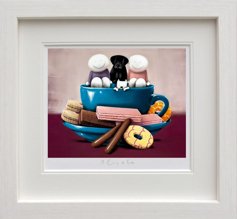 A Cup Of Love - White - Framed by Doug Hyde