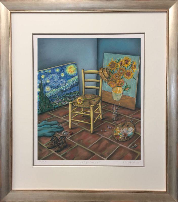 A Gift For Vincent - Frame Version 2 - Framed by Paul Horton