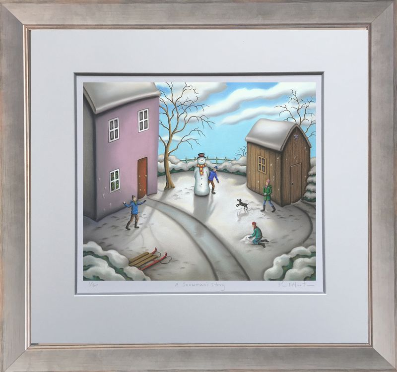 A Snowmans Story - Framed