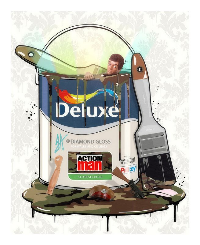 Deluxe Paint Can - Action Man - Original - Framed by JJ Adams