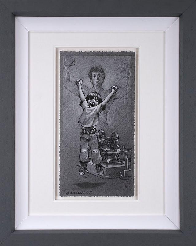 Adriaaaaaaan - Sketch - Framed by Craig Davison