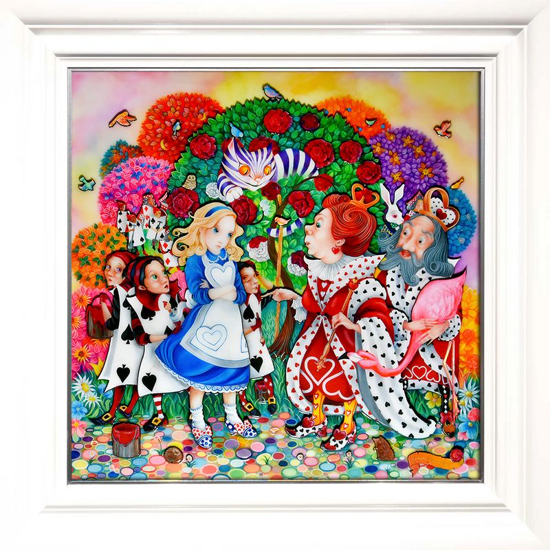 Alice In The Rose Garden - White - Framed by Kerry Darlington