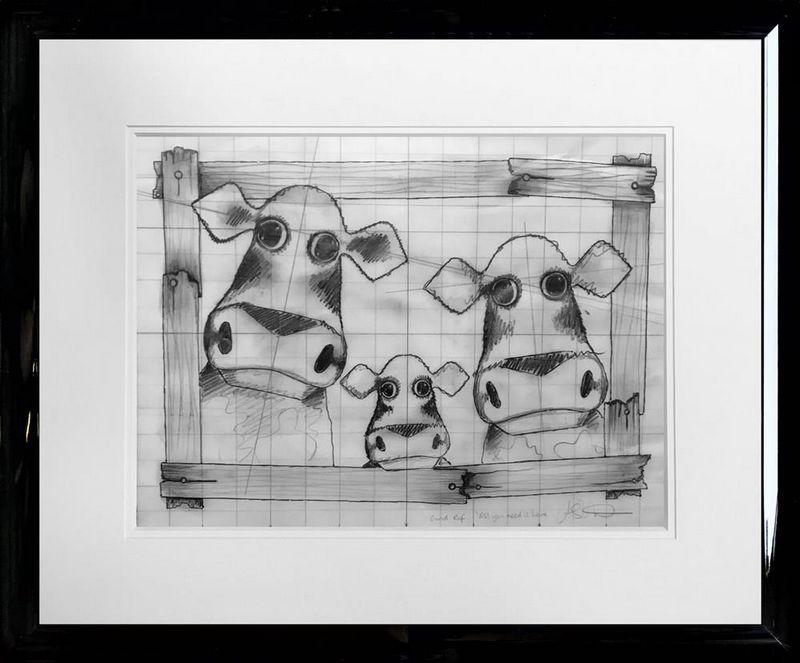 All You Need Is Love - Original Sketch - Framed by Caroline Shotton