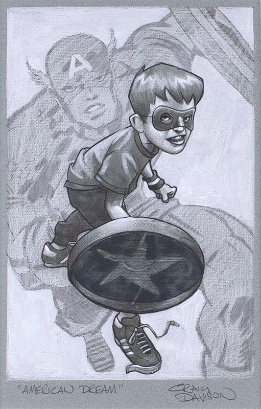 American Dream - Sketch - Artist Proof - Mounted by Craig Davison