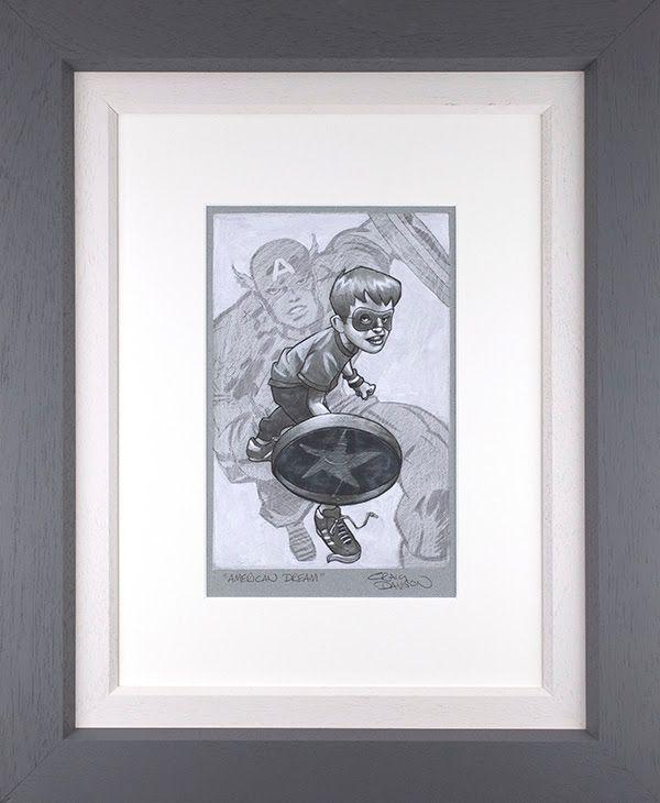 American Dream - Sketch - Original - Grey - Framed by Craig Davison