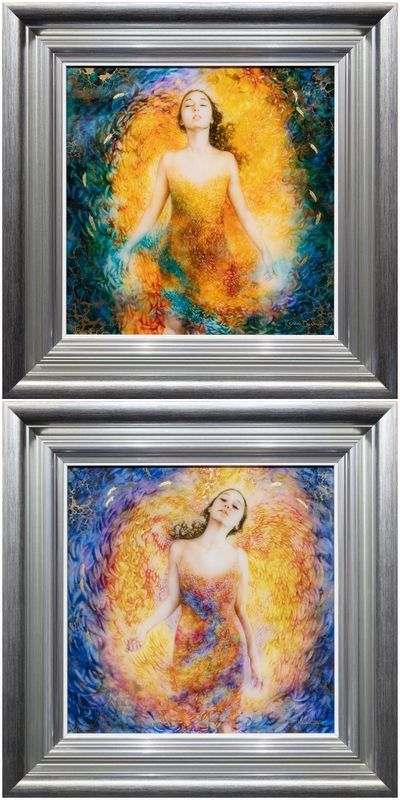 Angel's Set Of 2 - Boutique Editions - Silver Framed by Kerry Darlington