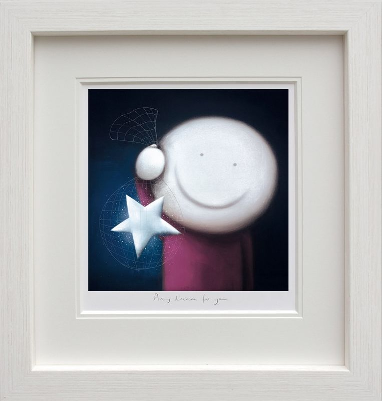 Any Dream For You - White - Framed by Doug Hyde