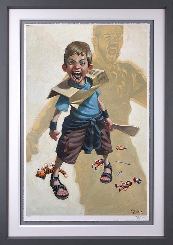 Are You Not Entertained? - Artist Proof Grey - Framed by Craig Davison