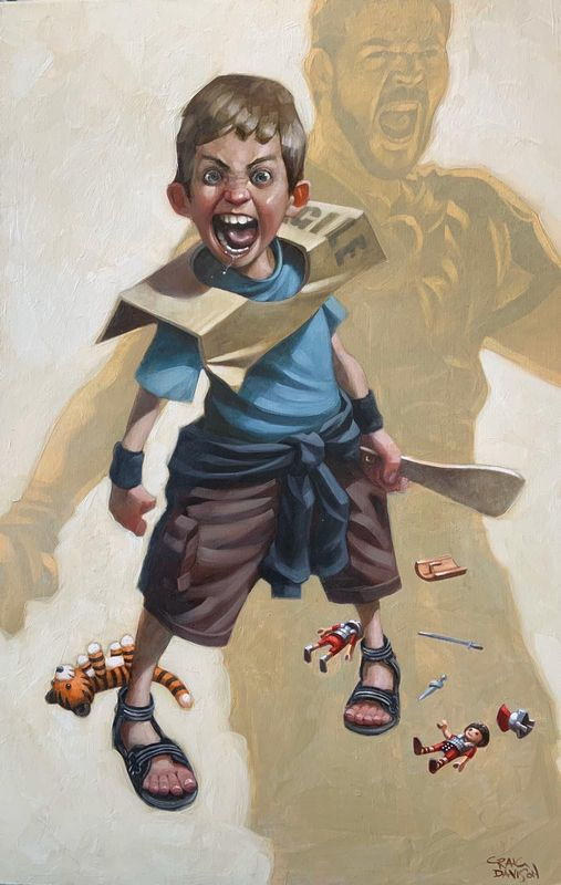 Are You Not Entertained? - Mounted by Craig Davison