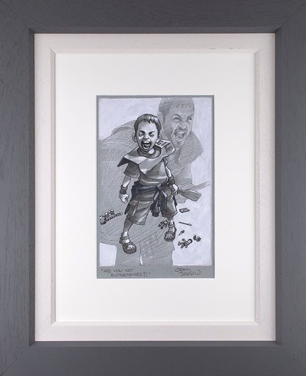 Are You Not Entertained? - Sketch  - Framed by Craig Davison
