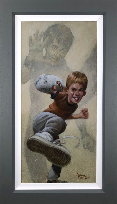 Armour Of Bob - Canvas - Grey - Framed by Craig Davison