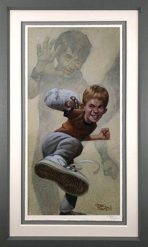 Armour Of Bob - Grey - Framed by Craig Davison
