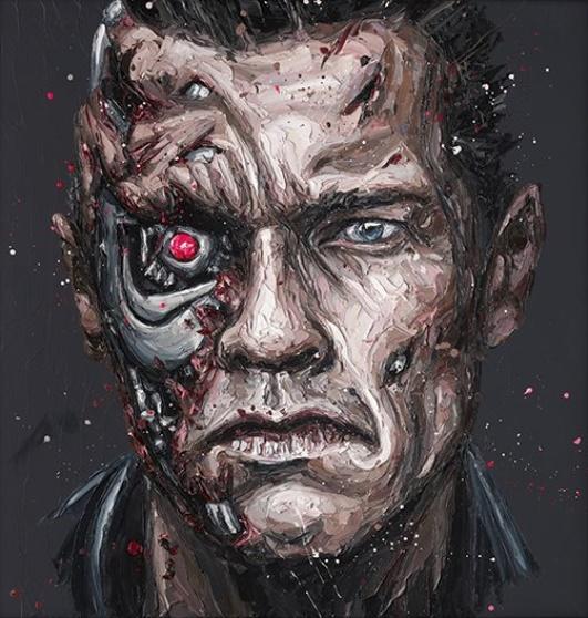 Arnie - Canvas - Framed by Paul Oz