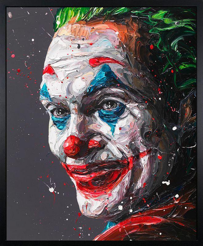 Arthur - The Joker - Canvas - Framed by Paul Oz