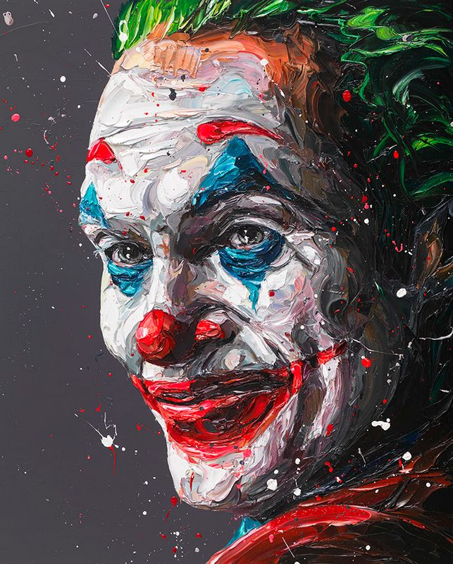 Arthur - The Joker - Original - Framed by Paul Oz