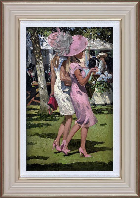 Ascot Chic I - Framed by Sherree Valentine Daines