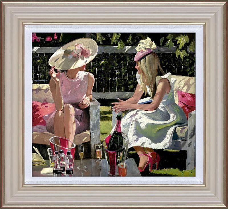 Ascot Elegance - Cream - Framed by Sherree Valentine Daines