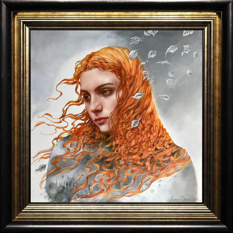 Astral Storylines - Boutique Edition - Black-Gold - Framed by Kerry Darlington