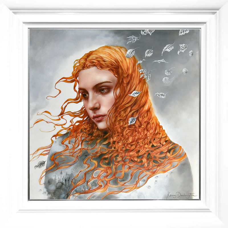Astral Storylines - Boutique Edition - White - Framed by Kerry Darlington