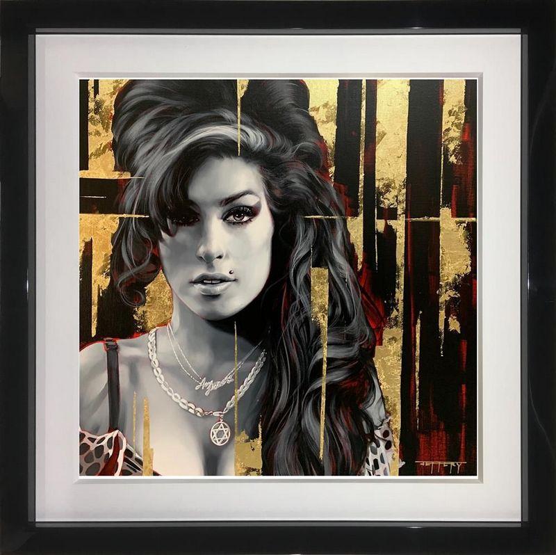Back To Black, Amy Winehouse - Original - Black Framed by Ben Jeffery