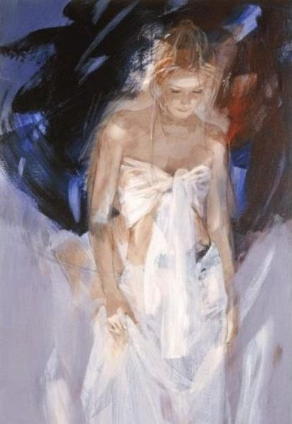 Backstage (canvas) by Christine Comyn