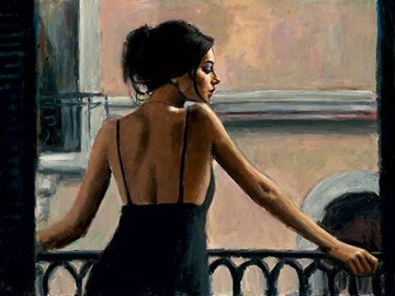 Balcony at Buenos Aires VI - Board Only by Fabian Perez