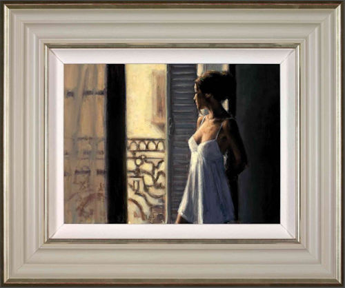 Balcony at Buenos Aires X - Framed by Fabian Perez
