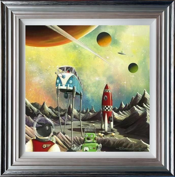 Base Camper (Ewe - Niverse Series) - 3D High Gloss - Framed by Dale Bowen