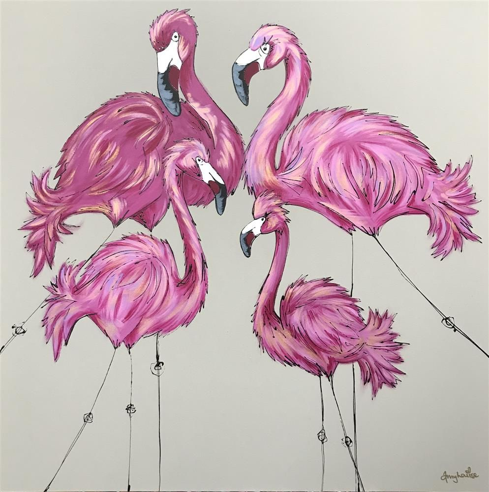 Be A Flamingo in a Flock of Pigeons by Amy Louise