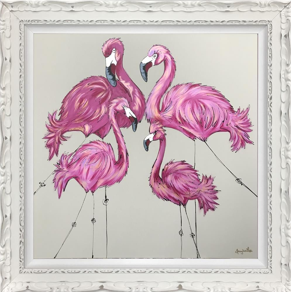 Be A Flamingo in a Flock of Pigeons - Framed by Amy Louise