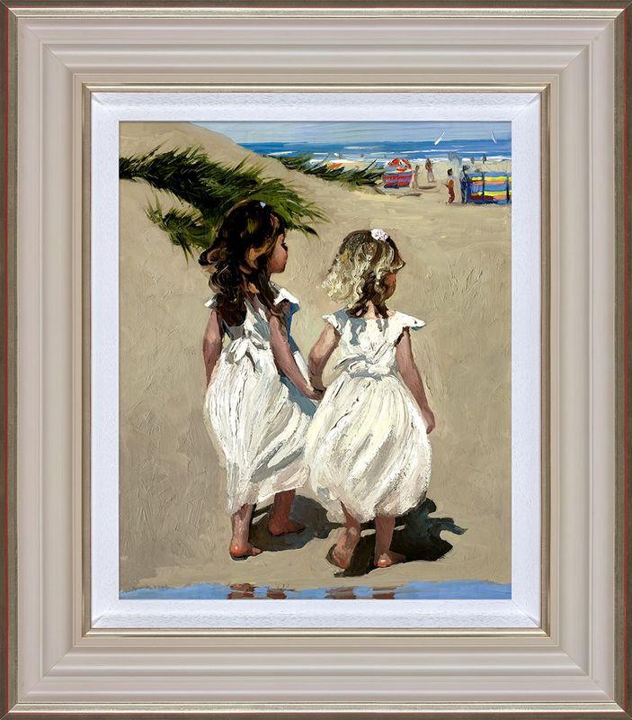 Beach Babies - Framed by Sherree Valentine Daines