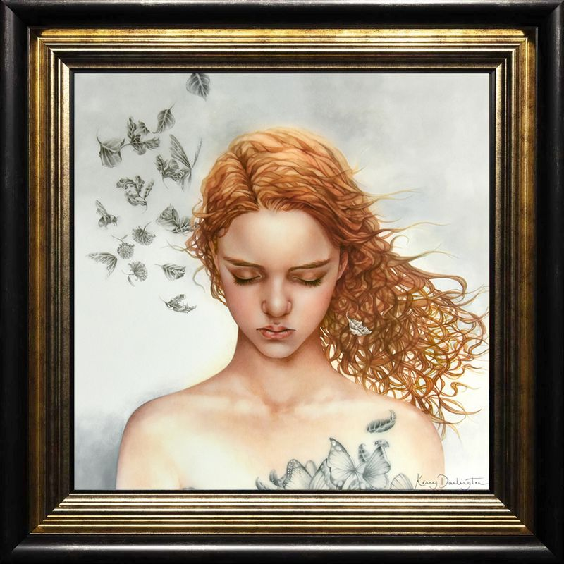 Becoming Nobody - Boutique Edition - Black-Gold - Framed by Kerry Darlington