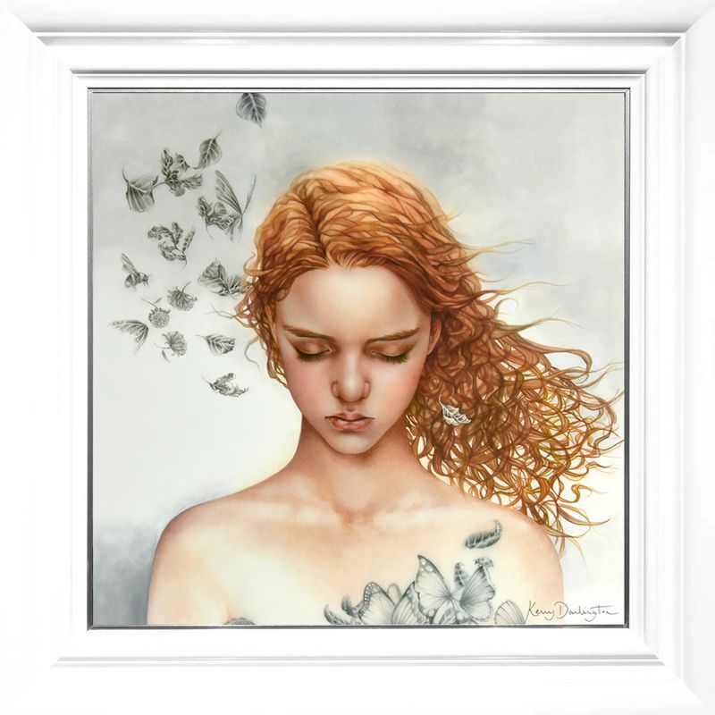 Becoming Nobody - Boutique Edition - White - Framed by Kerry Darlington