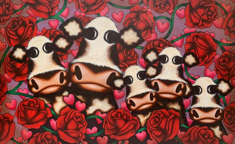 Bed Of Roses by Caroline Shotton