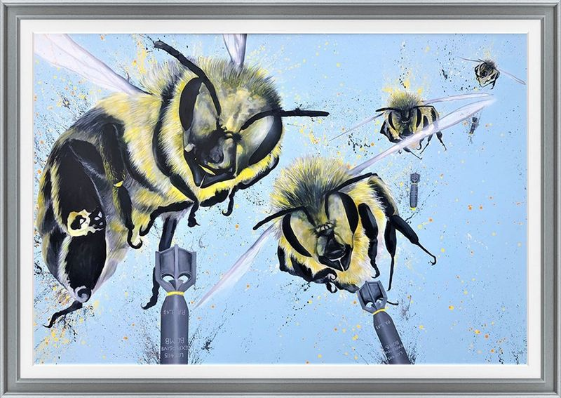 Bees 52 - Original by The Mad Artist