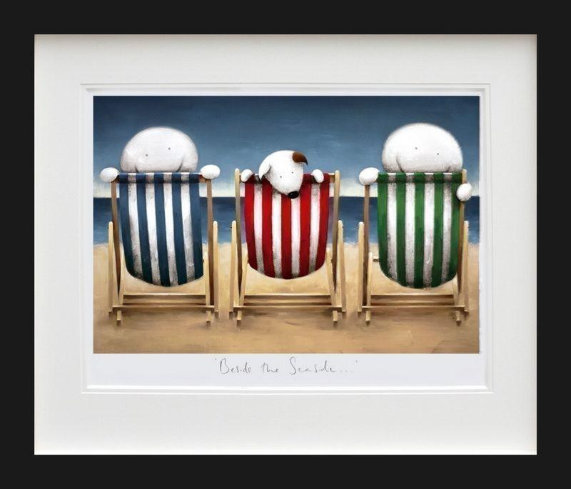 Beside The Seaside - Black Framed by Doug Hyde