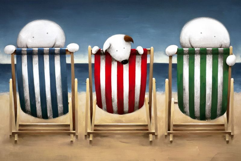 Beside The Seaside - Black Framed by Doug Hyde
