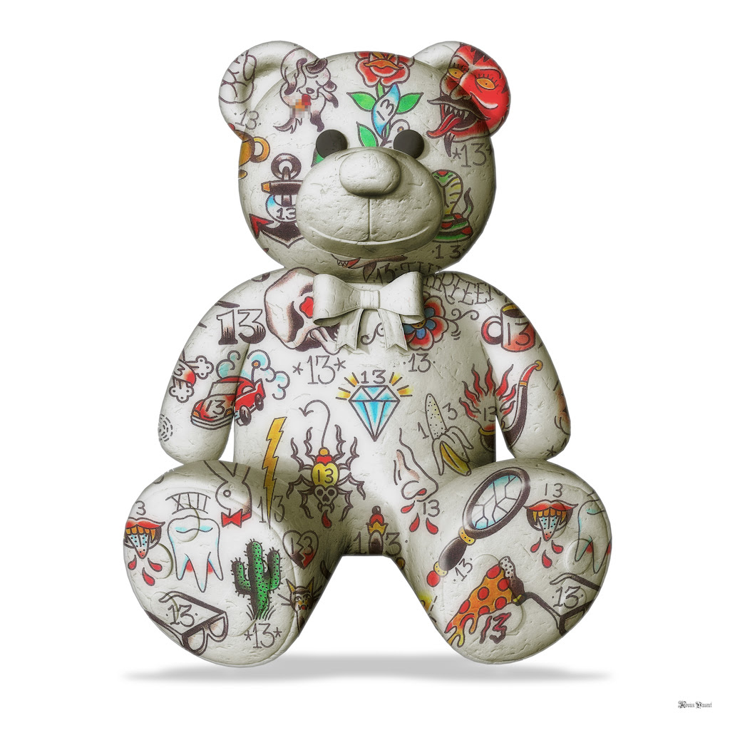 Best Friend - Teddy Bear (White Background) - Large - Framed by Monica Vincent
