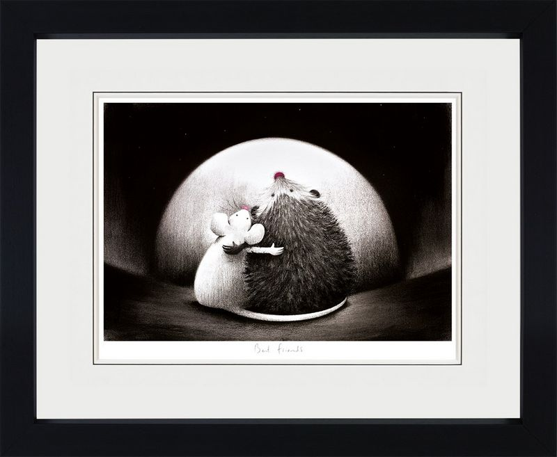 Best Friends - Black Framed by Doug Hyde