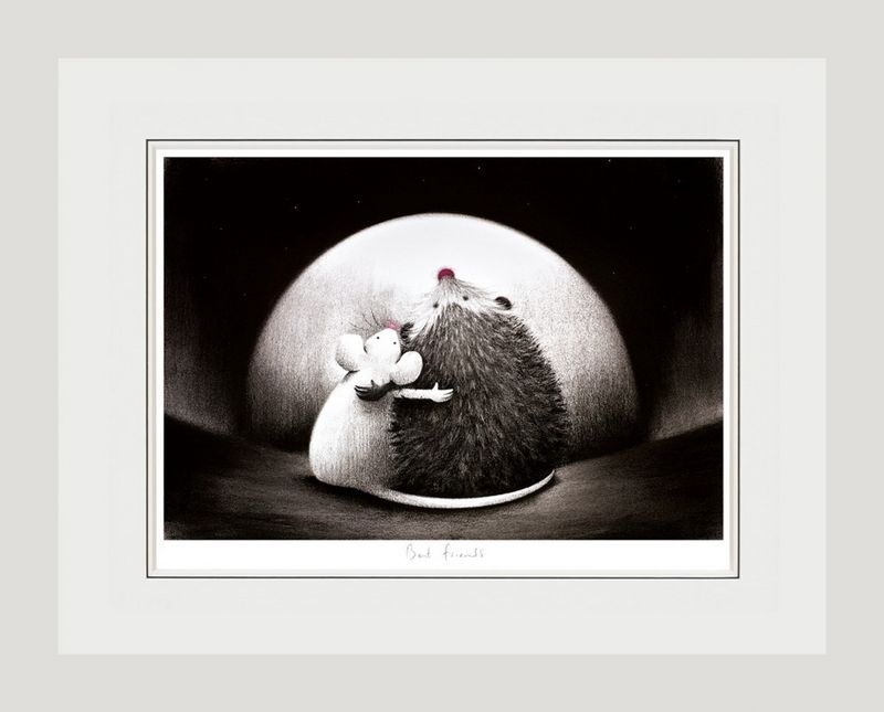 Best Friends - White Framed by Doug Hyde