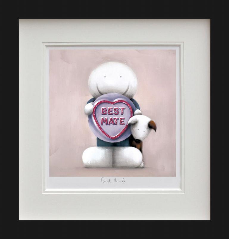 Best Mate - Black - Framed by Doug Hyde