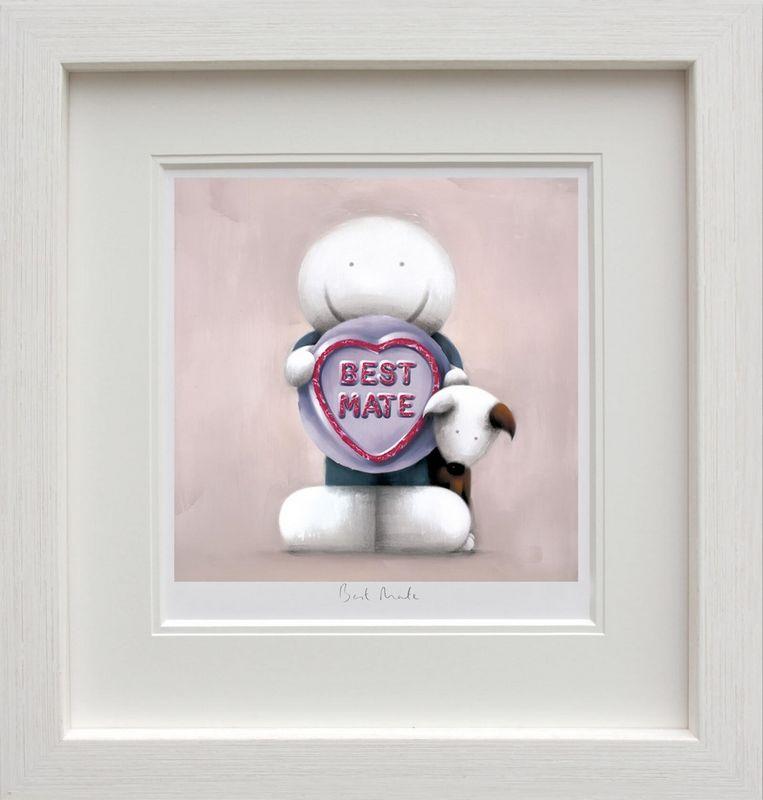 Best Mate - White - Framed by Doug Hyde