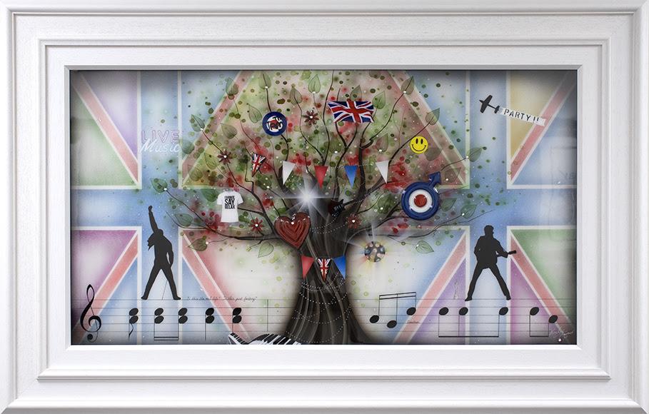 Best Of British - Music - Original - White - Framed by Kealey Farmer