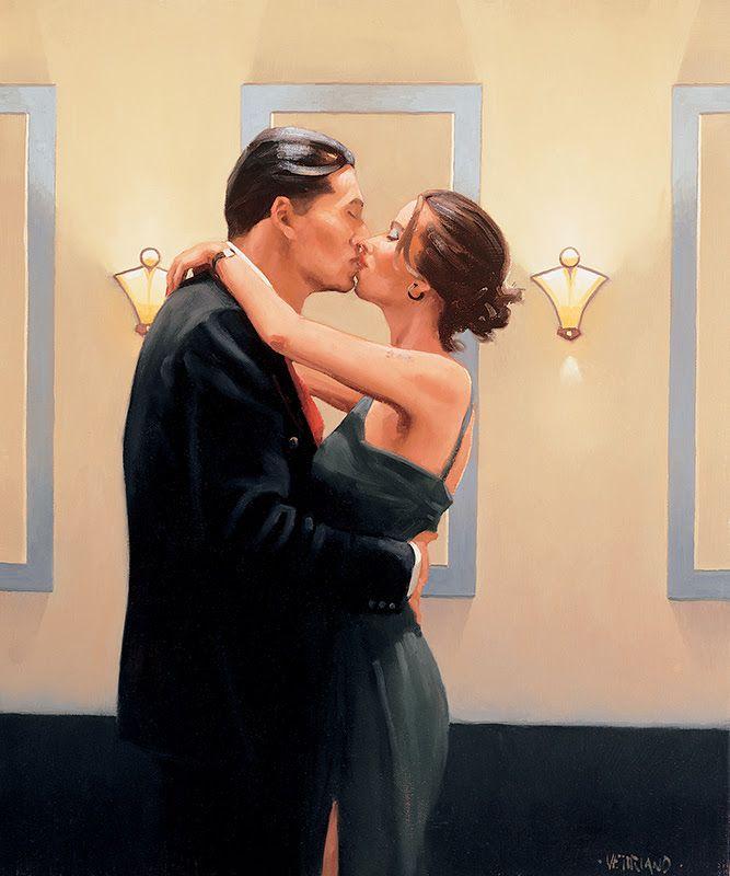 Betrayal - First Kiss by Jack Vettriano